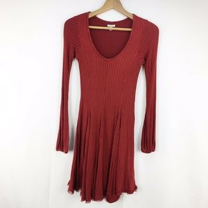 ecote Urban Outfitters Brick Red Fit & Flare Dress